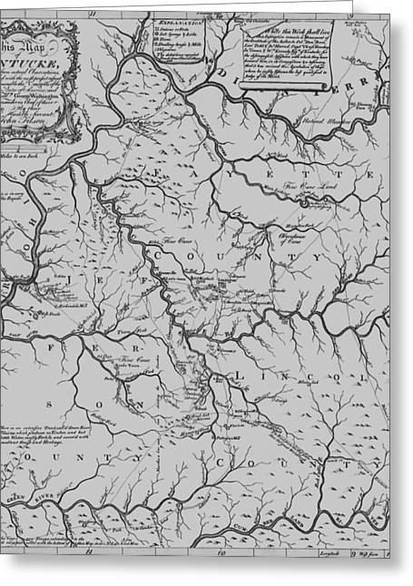 Antique 1784 Kentucky Map Greeting Card