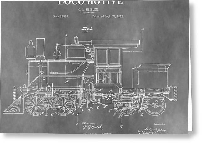 Antique 1892 Train Patent Greeting Card by Dan Sproul