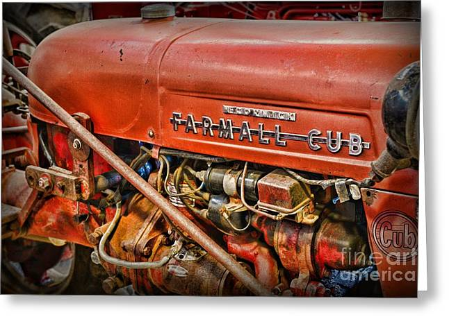 Antique 1939 Farmall Cub Tractor Greeting Card by Paul Ward
