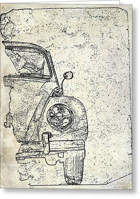 Antique Beetle Greeting Card by Jon Neidert