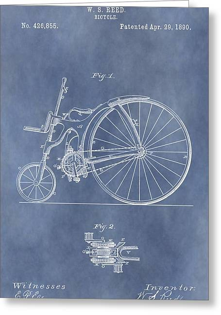 Antique Bicycle Patent 1890 Greeting Card by Dan Sproul