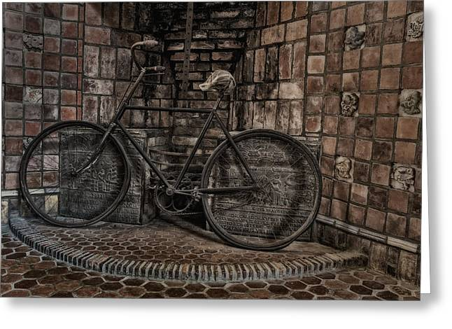 Antique Bicycle Greeting Card