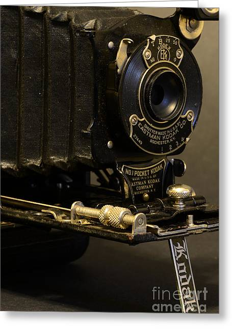 Antique Camera In Black And White Greeting Card