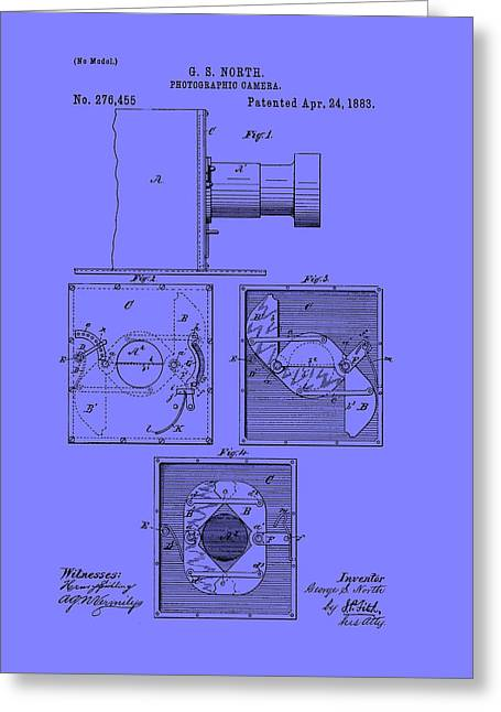 Antique Camera Patent 1883 Greeting Card by Mountain Dreams