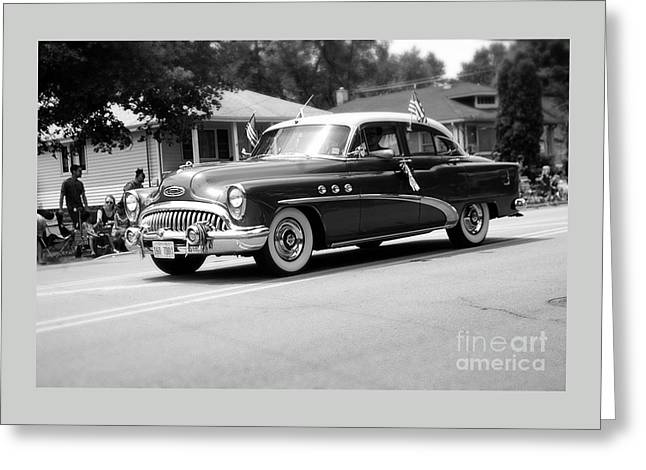 Antique Car Parade Greeting Card