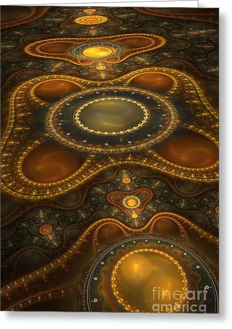 Antique Carpet Greeting Card by Jaclyn Hughes Fine Art