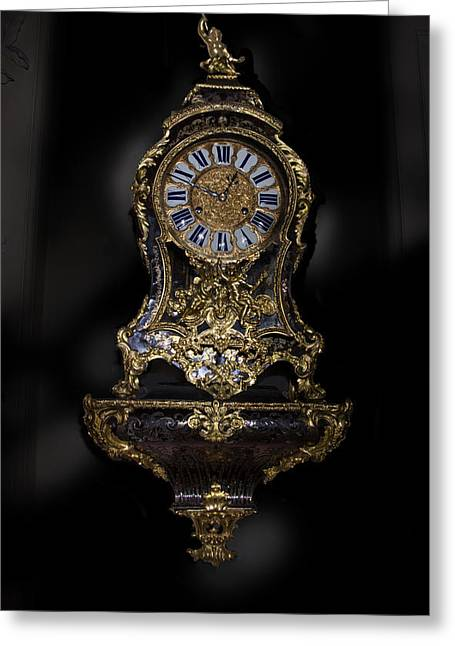 Antique Clock Paxton House Greeting Card by Niall McWilliam