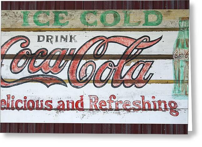Antique Coca Cola Sign  Greeting Card