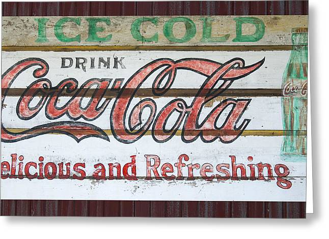 Antique Coca Cola Sign  Greeting Card