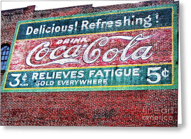 Antique Coke Sign Greeting Card