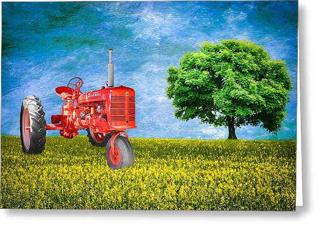 Antique Farmall Tractor Greeting Card