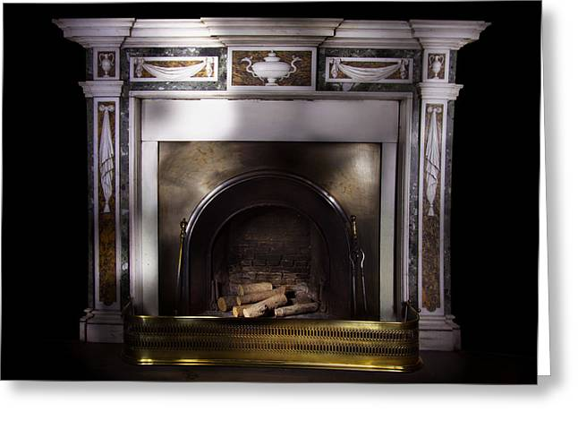 Antique Fireplace Paxton House Greeting Card by Niall McWilliam