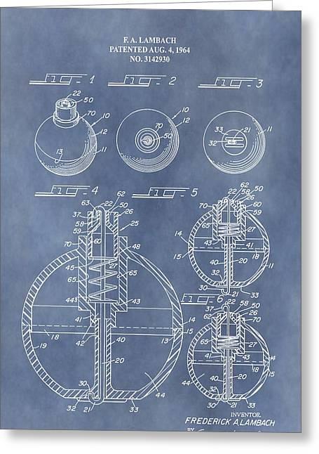 Antique Fishing Bobber Patent Greeting Card