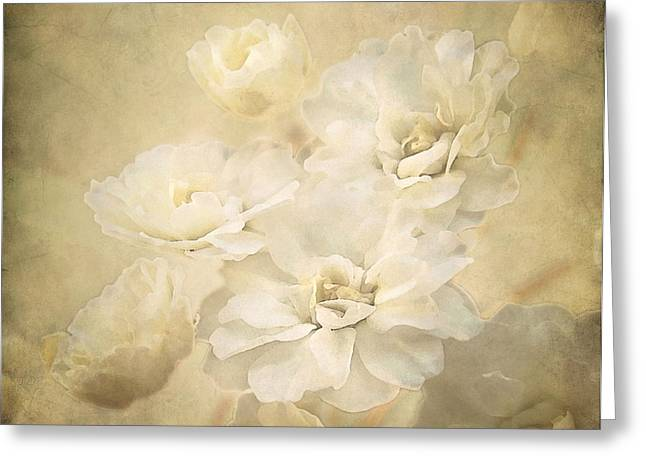 Antique Floral Greeting Card by Deborah Smith