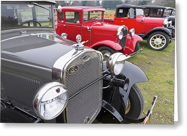 Antique Ford Automobiles At Ft Greeting Card by William Sutton