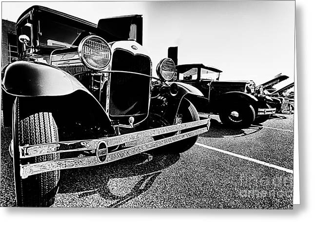 Antique Ford Car At Car Show Greeting Card by Danny Hooks