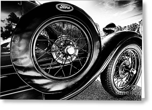 Antique Ford Car Greeting Card by Danny Hooks