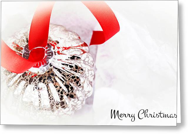 Antique Glass Bauble Greeting Card