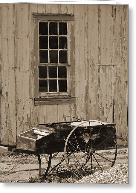 Antique Hay Cart Greeting Card