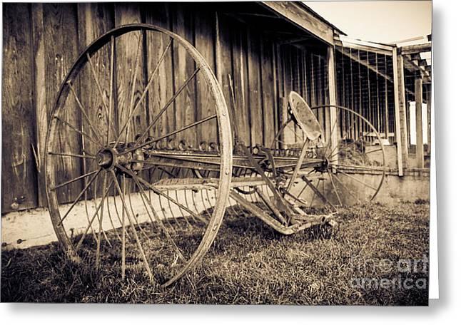 Antique Hay Rake Greeting Card by Lucid Mood