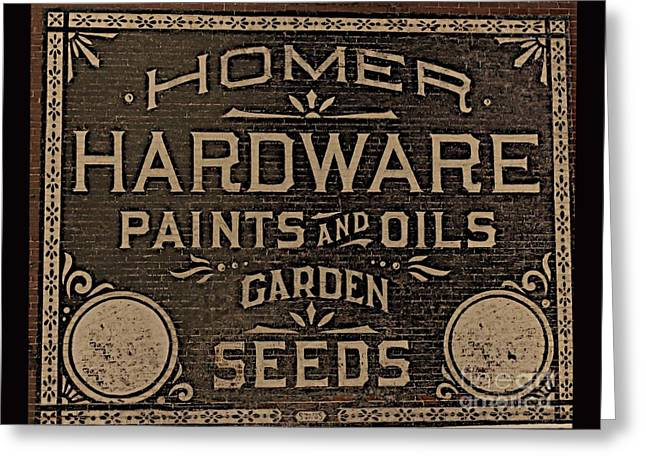 Antique Homer Hardware Greeting Card