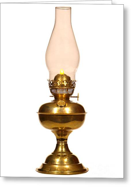 Antique Hurricane Lamp Greeting Card