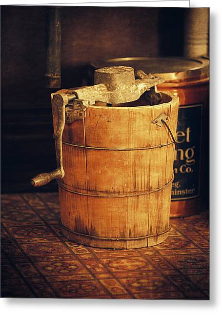 Antique Ice Cream Maker Greeting Card