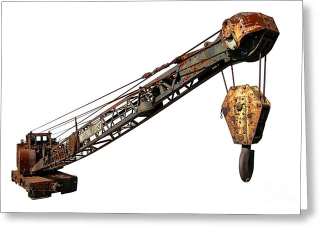Antique Industrial Hoist Greeting Card by Olivier Le Queinec