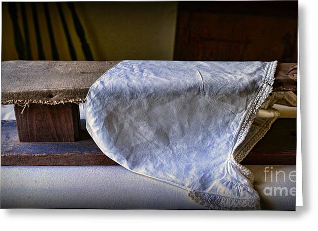 Antique Ironing Board Greeting Card by Paul Ward