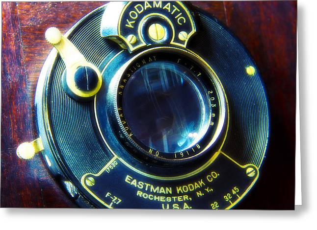 Antique Kadamatic Lens Greeting Card by Garry McMichael