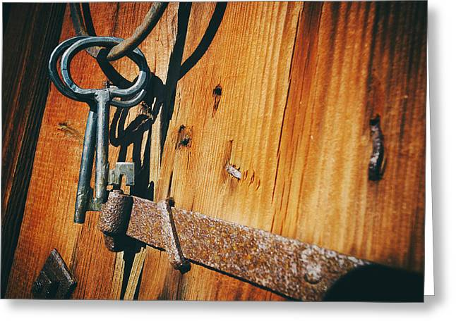 Antique Keys And Rings Greeting Card by Christian Lagereek
