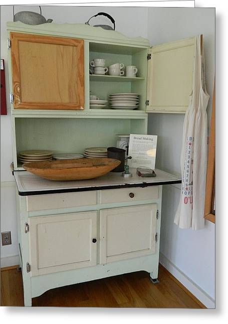 Antique Kitchen Cabinet Greeting Card