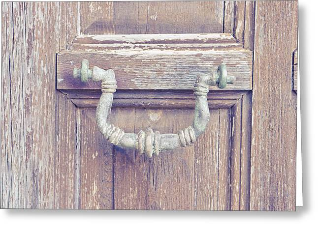 Antique Knocker Greeting Card by Tom Gowanlock