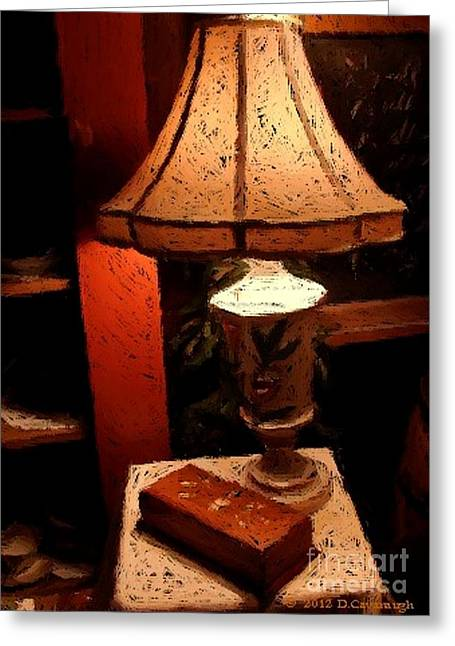 Antique Lamp Greeting Card