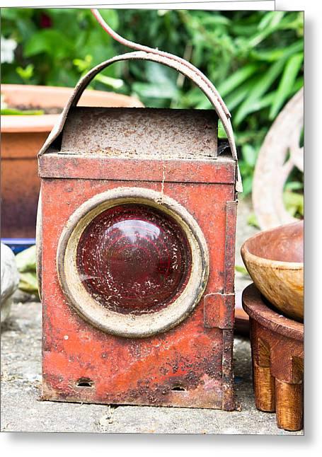 Antique Lantern Greeting Card