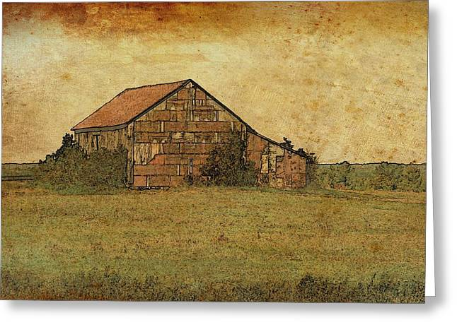Antique Little Barn Greeting Card
