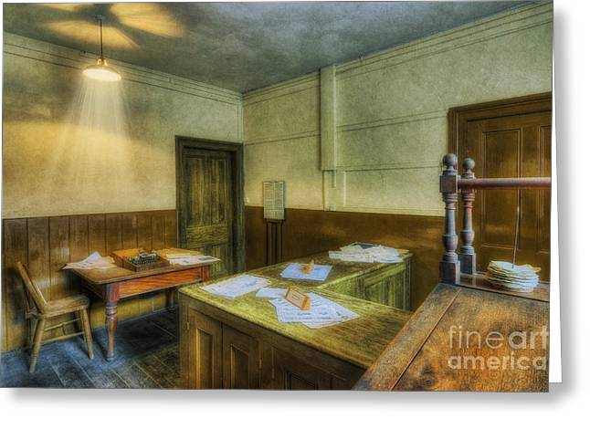 Antique Office Greeting Card by Ian Mitchell