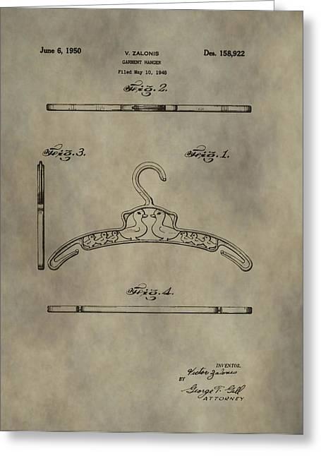 Antique Patent Art Hanger Greeting Card