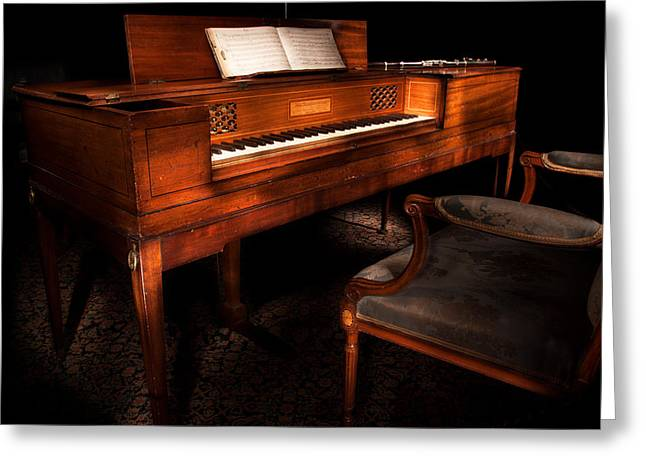 Antique Piano Paxton House Greeting Card by Niall McWilliam