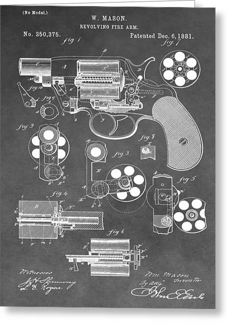 Antique Revolver Patent Greeting Card by Dan Sproul