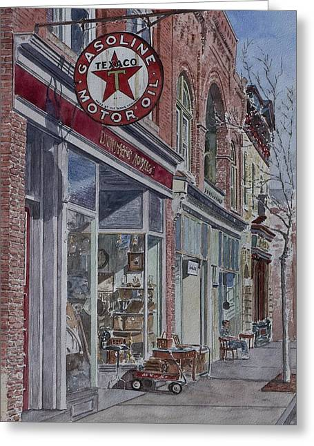 Antique Shop Beacon New York Greeting Card