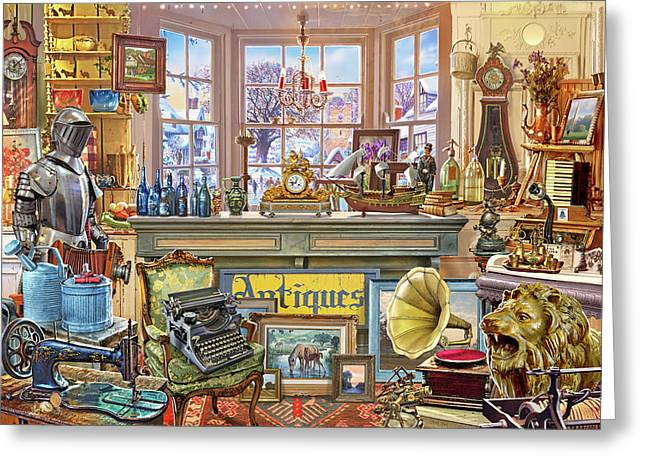 Antique Shoppe Greeting Card
