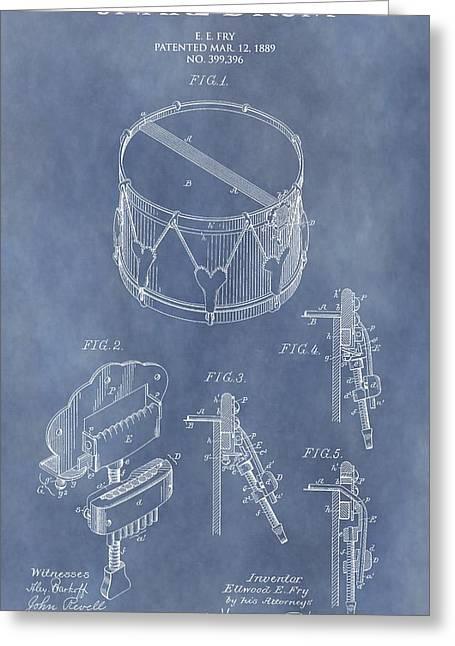 Antique Snare Drum Patent Greeting Card