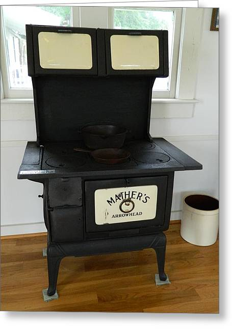 Antique Stove - Mather's Arrowhead Greeting Card