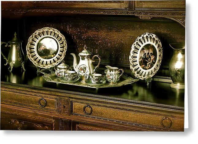 Antique Tea Set Greeting Card