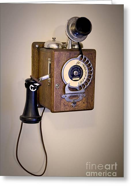 Greeting Card featuring the photograph Antique Telephone by David Millenheft