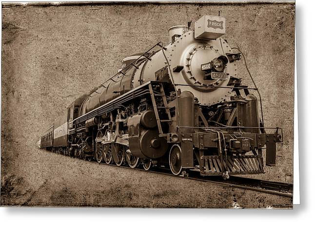 Antique Train Greeting Card by Doug Long
