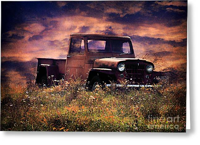 Antique Truck Greeting Card by Darren Fisher
