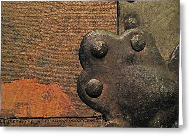 Antique Trunk 13 Greeting Card by Mary Bedy
