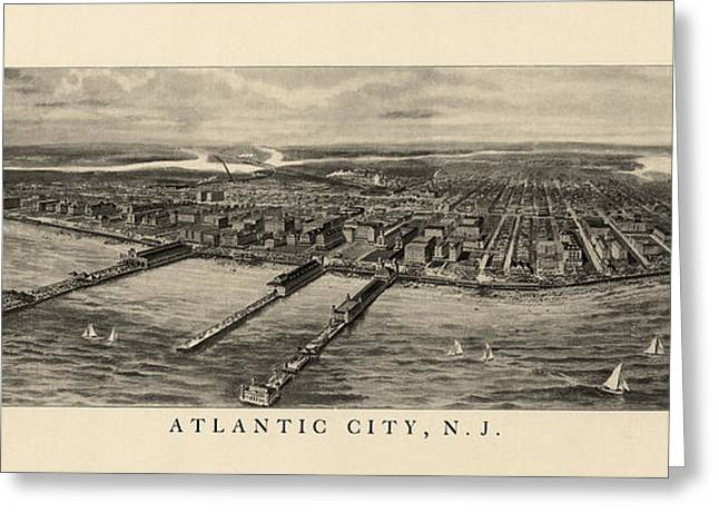 Antique View Of Atlantic City New Jersey - 1905 Greeting Card